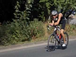 Marvin auf dem Rennrad: Triathlon Hameln 2018