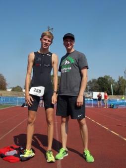 Marvin + Jens beim Triathlon in Hameln 2018. Ratet mal, wer schneller war ;-)