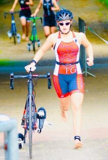 Emily beim Nachwuchscup in Gladbeck. Go!